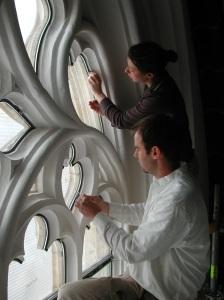 Einbau von Schutzverglasungen