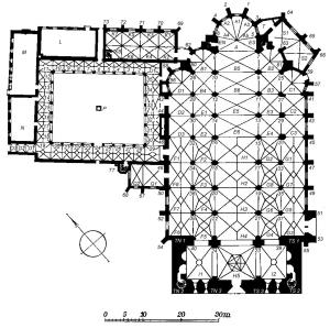 Grundriss Dom und Kreuzgangbebauung